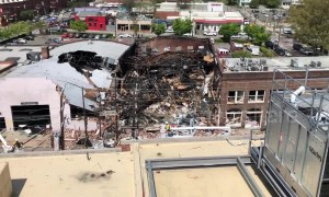 Wreckage of North Carolina building following massive gas explosion