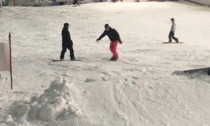 Epic Snowboard Flip Fail