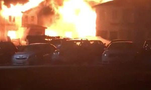 Unoccupied Apartment Complex Fire