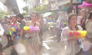 Incredible scenes as crowds of tourists join Thailand's Songkran new year celebrations