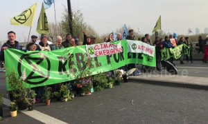 Waterloo Bridge in London blocked by climate demonstrators