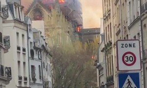 Notre Dame Cathedral Spire Consumed by Fire