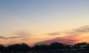 Meteor Streaks Across Sunrise Sky