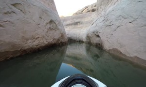 Jet Ski Effortlessly Weaves Way Through Utah Canyons