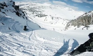 Triggered Avalanche Doesn't Stop This Skier