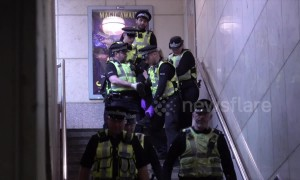 Climate change activists arrested after disrupting London's Canary Wharf station