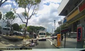Cyclist Taken Down by Crossing Gate