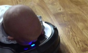 Robot Vacuum Tummy Time