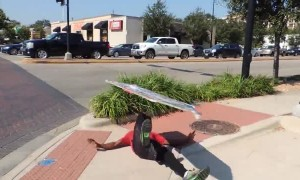 Sign spinner takes advertising to the next level with these skills
