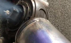 Vacuum Starts on Fire