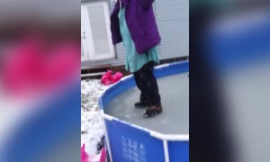 Frozen Pool Dare Goes Wrong