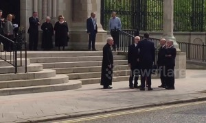 Corybn and Higgins among political leaders attending Lyra McKee's funeral in Belfast