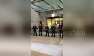 Extinction Rebellion protesters glue themselves to London Stock Exchange