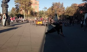 Gravity Defying Street Performance