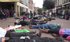 Protesters perform 'die-in' on West London high street