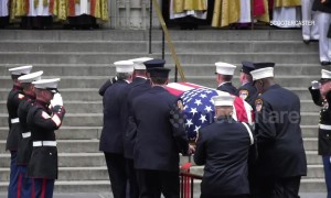 Thousands gather for funeral of Christopher Slutman, Marine and firefighter killed in Afghanistan