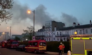Major fire rips through luxury spa hotel Richmond London - compiled clips