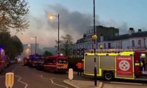 Major fire engulfs a luxury spa in Richmond, south west London
