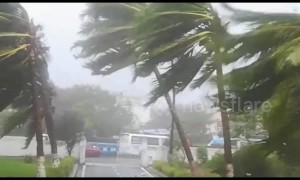 Strong winds and heavy rain batter Puri city as Cyclone Fani hits eastern Indian coast