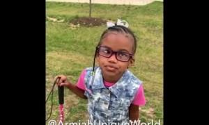 Sweet little girl gives inspirational advice