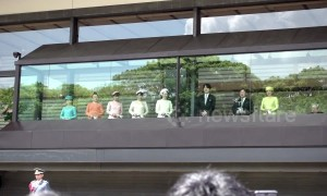 Japan's Emperor Naruhito greets public for the first time