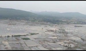 Aerial footage reveals scale of devastation