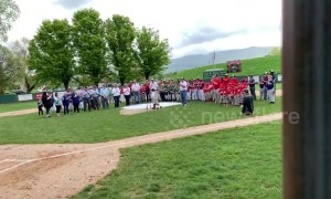 Touching moment boy with rare condition throws opening pitch of Little League season