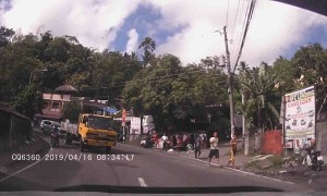 Runaway Bus Slams Parked Tricycles