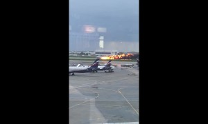 At least 13 dead in Moscow plane fire
