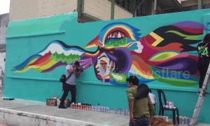 Artists cheer up red light district of Guatemala City with colourful creations