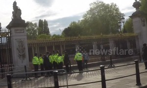 Arrest drama at Buckingham Palace after royal baby announcement