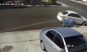 Sleeping Driver Runs into Neighborhood Kid