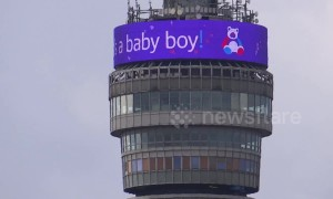 BT Tower celebrates arrival of Harry and Meghan's baby boy