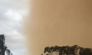 Dust Storm Turns Day into Night in Under a Minute