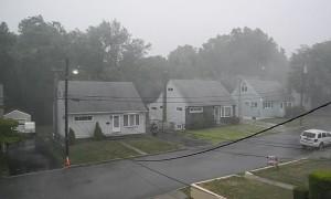 Lightning Strikes Across the Street
