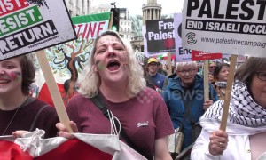 Palestinian protests in London include icon Ahed Tamimi 71 years on from Nakba