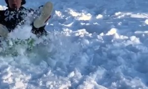 Sledding Back Flip in Finland