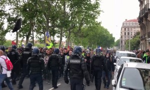 Violent clashes at the national demonstration of yellow vests in Lyon