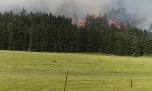 Oregon Hillside on Fire