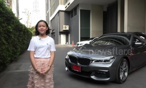 Makeup whiz-kid in Thailand buys herself brand new car but she's not old enough to drive