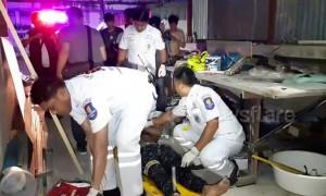 Locals baffled when 'drunk' man plunges through their roof
