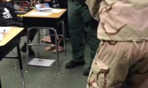 Father Surprises Kids at School