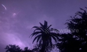 Beautiful slow-mo compilation catches night of lightning in skies over Houston