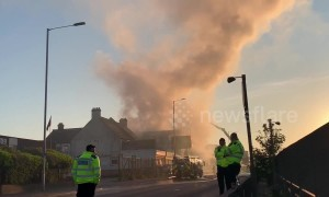 Huge blaze in north London causes rush-hour chaos