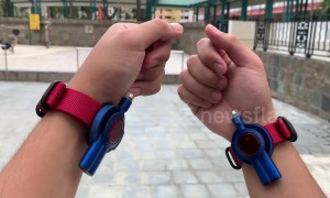 Man makes working Spiderman web shooter wrist straps