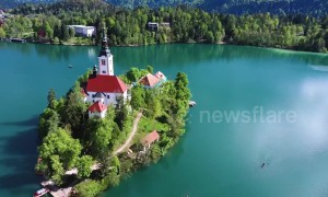 Take this envy-inducing drone tour of Slovenia's stunning Lake Bled