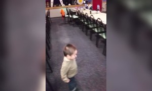 Cute Little Boy Can't Stop Dancing
