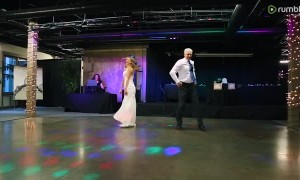 Father and daughter pull off epic surprise dance at wedding