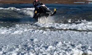 Defying Snowmobile Physics