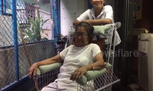 Designer converts old shopping trolleys into wheelchairs for poverty-stricken pensioners
